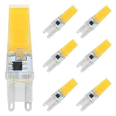 6er G9 COB LED Lampe 3W Warmweiß 3000K 250 Lumen