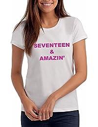 Da Londra Girls Seventeen & AMAZIN' - 17th Birthday T Shirt Gift