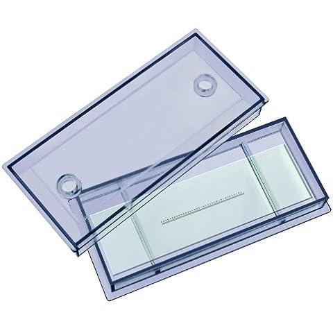 Bresser - Accesorios para microscopio, Portaobjetos escala micrométrica 1 / 10mm