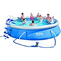 Bestway 15ft Inflatable Fast Swimming Pool Set (Blue)