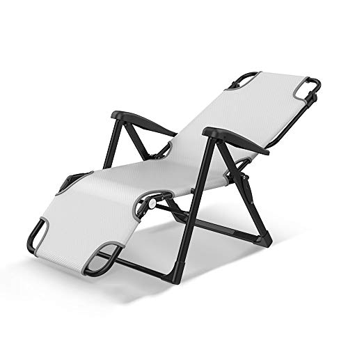 CHDE Chaiselongue Multifunktionale Klappliege einzigen Mittagspause Bürostuhl tragbaren Krankenhaus begleitenden Outdoor-Camping Klappbett nach Hause faul Stuhl faul Couch, grau Klappbett