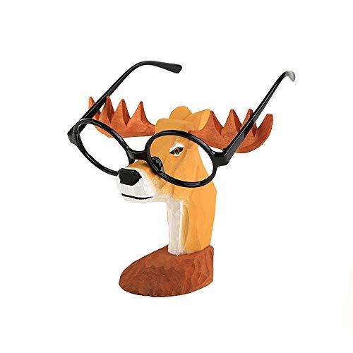 AHMI Holz Glas Sonnenbrille Display Rack Ständer Halter Niedliche Hirsch Home Office Schreibtisch Dekor Geschenk