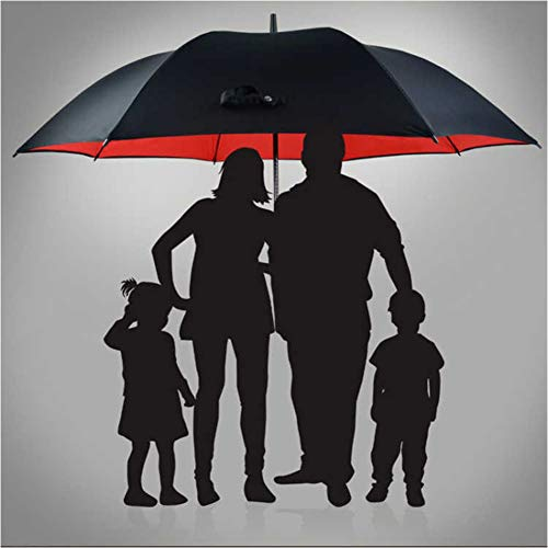 Lzdseller01 ombrello da pioggia pieghevole antivento, ombrello anti-uv a doppio strato 3-4 persone ombrello portatile a tre ombretti pieghevole, regalo durevole ad asciugatura rapida