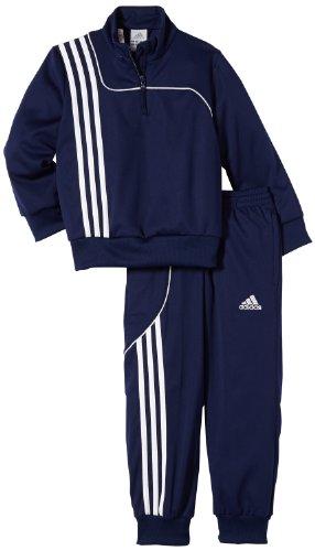 adidas Kinder Trainingsanzug Sereno 11 Sweat, Top:New Navy/White Bottom :New Navy/White, 164, W40050