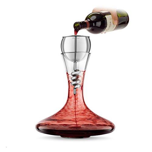 Final Touch Stainless Steel Edition TWISTER Red Wine Aerator & DECANTER Weinbelüfter Weindekantier...