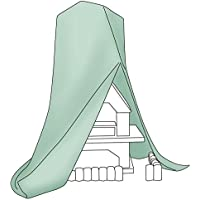 Relaxdays resistente a la intemperie chimenea cubierta protectora–Verde