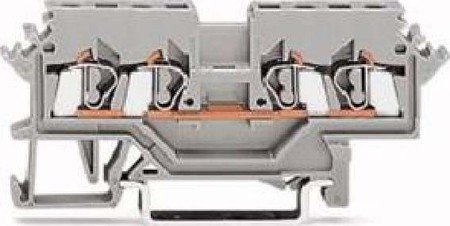 WAGO 280-621 4P GRIS BLOQUE PARA TERMINAL ELECTRICA - ELECTRICAL TERMINAL BLOCK (5 MM  73 MM  28 MM)