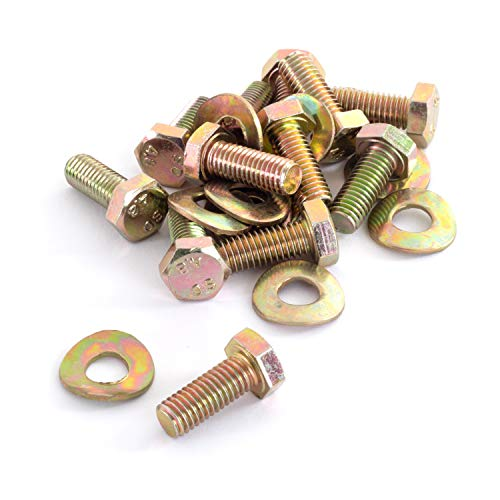 Ampel 24 Trampolin Ersatzteile für Trampolin Rahmen, 12 x Schrauben-Set, Gewinde M8, Länge 20 mm, Sechskant