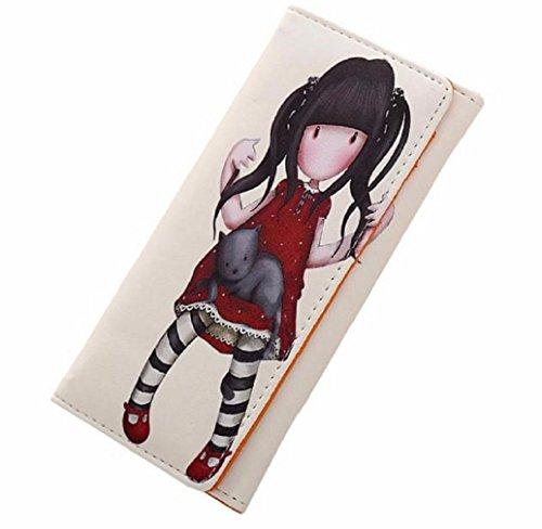 Preisvergleich Produktbild Tonsee Jahrgang Geldbörsen Cartoon Graffiti LORI Mädchen Frauen Brieftaschen Marke weibliche Cartoon Wallet Farben (beige)