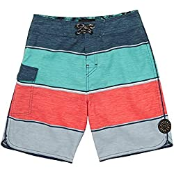 RIP CURL Boys All Time Board Shorts Boy 17, Boys', KBOET4, aqua, 14