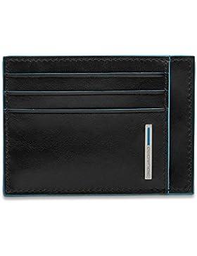 Piquadro porta tarjetas de crédito en piel Blue Square pp2762b2