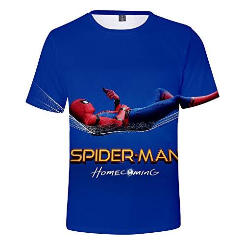 Expedition S/s Shirt (WQWQ Männer und Frauen leichte Persönlichkeit T-Shirt Shirt Spider-Man Held Expedition Kurzarm Rundhals Druck Fitness Schnell trocknender Schweiß XXL 3XL,B,S)