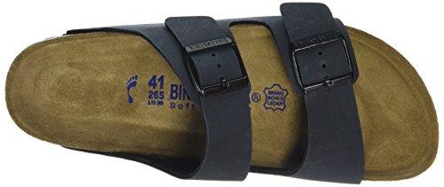 Birkenstock Classic Arizona Birko-Flor Softfootbed Unisex-Erwachsene Pantoletten Grau (Basalt)