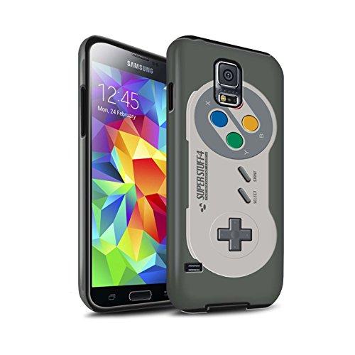 Stuff4® Matte Harten Stoßfest Hülle/Case für Samsung Galaxy S5/SV/Super Nintendo Muster/Spielkonsolen Kollektion
