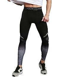 SEVENWELL Männer Kompression Hosen Workout Laufen Leggings Druck Strumpfhosen