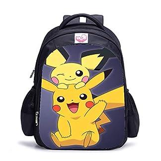 41NjrUHy23L. SS324  - Mochila Pokemon Niños, Pokemon Go Pikachu Mochila Portátil para Infantil y Niñas Unisex Bolsa Escolar para Mujeres Hombre Viaje Hombro Mochila Backpack para Estudiantes Adolescentes