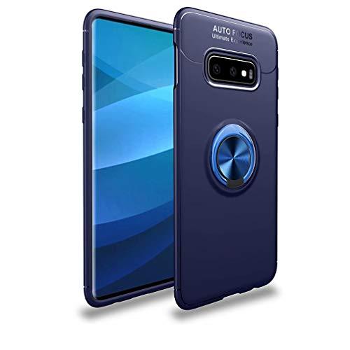 Qsdd Sostituzione per Samsung Galaxy A7 2018 Custodia Anello Rotante da 360 Gradi [Supporto Magnetico per Auto] Anti-Scratch Anti Impronta Digitale Slim Antiurto Protettivo Case(Blu)