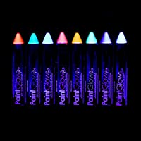 Neon UV Face Paint Stick/Body Crayon makeup for the Face & Body - set of 8 colours - Glows brightly under UV lighting
