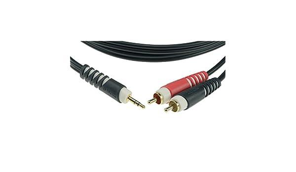 1,0 Meter Klotz Audio Kabel 2x Cinch//2x Cinch schwarz
