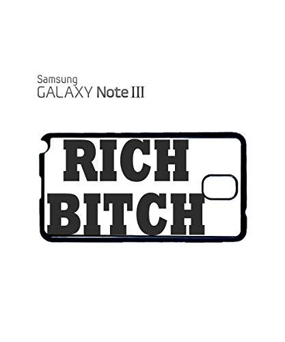 Rich B*tch and Funny Posh Tumblr Instagram Mobile Phone Case Samsung Galaxy S3 Black Blanc