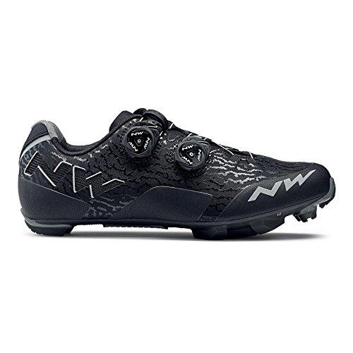 Northwave Rebel MTB Fahrrad Schuhe schwarz/grau 2018: Größe: 46