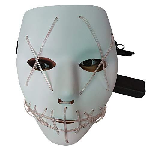 ke Horror Schreck Halloween Grimace Party Rollenspiel Line Kaltmaske ()