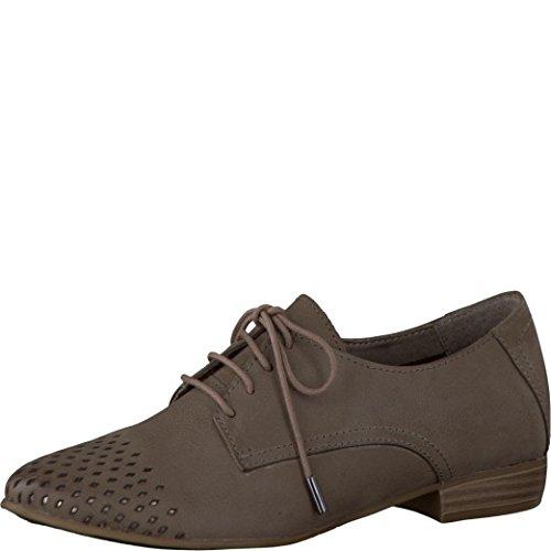 Tamaris Schuhe 1-1-23203-28 Bequeme Damen Schnürer, Schnürschuhe, Halbschuhe, Sommerschuhe für modebewusste Frau, braun (Pepper), EU 38