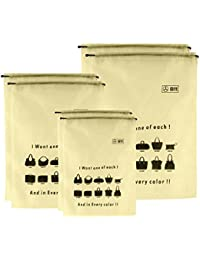 B11 Handbag Dust Cover Women Purse Storage Bag Drawstring Storage Packing Bags (3 In 1 Size Pack) Set Of 6 Bags