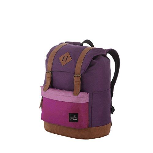 Let's Go Jugend/Kinderrucksack für Mädchen und Jungen, Retro Style, robuster Daypack mit Laptopfach bis 13 Zoll -