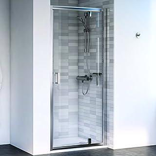 Aqualux 1193800 Pivot Shower Door Recess Fit, Polished Silver, 760 mm