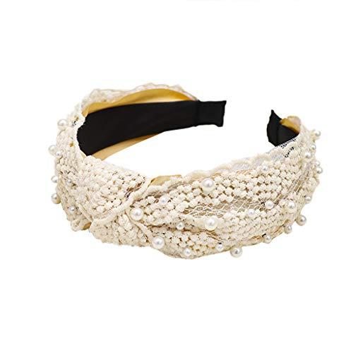 TOPGKD beliebt Mode samt bogen knoten haarband frauen haarkopf hoop süße mädchen haarbandIns umsatzstark(Beige)