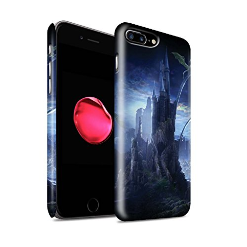 Officiel Elena Dudina Coque / Clipser Matte Etui pour Apple iPhone 8 Plus / Rue Inondée Design / Fantaisie Paysage Collection Vallée des Dragons