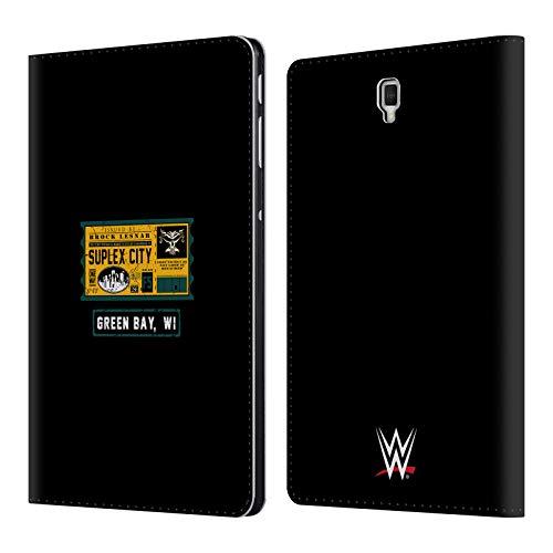 Head Case Designs Offizielle WWE Brock One Way Ticket Green Bay 2018/19 Superstars Leder Brieftaschen Huelle kompatibel mit Samsung Galaxy Tab S4 10.5 (2018) (Wwe Tickets)