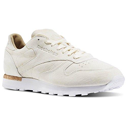 Reebok CL Leather Beige White Beige