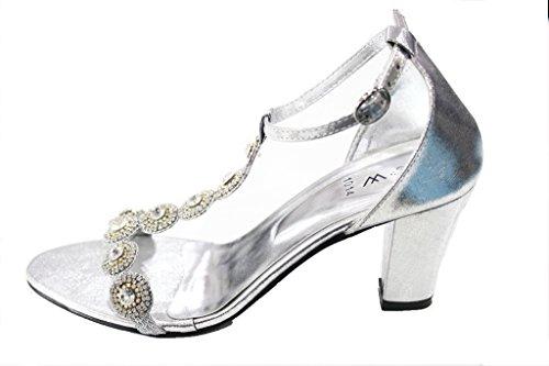 Wear & Walk UK , Bride de cheville femme silver