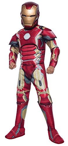 Rubies Iron Man Mark 43 Deluxe Avengers 2 Kinder Jungen Kostüm Fasching Karneval: Größe: L (Iron Man Kostüm 8 9)