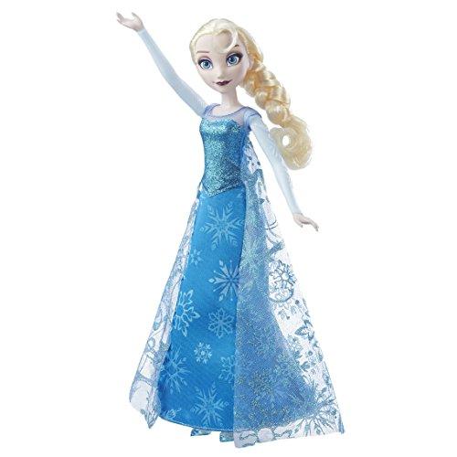 Frozen - Muñeca Elsa Canta y Brilla, multicolor (Hasbro)