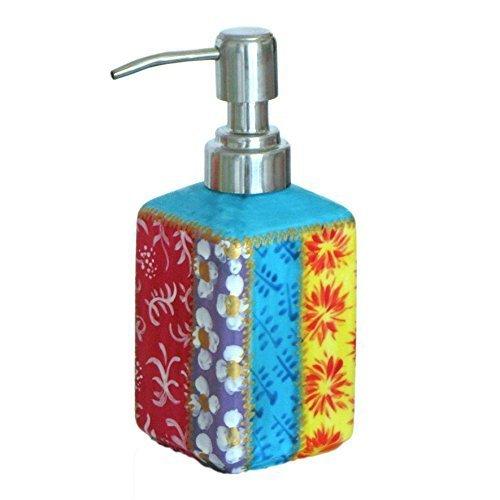 Regalo di Pasqua - Dispenser e pompa per sapone liquido e il lavaggio del corpo, in porcellana per la casa; design 'Stripey' per il bagno o la cucina. Lussuoso cofanetto per i regali per mamma compleanno o Pasqua