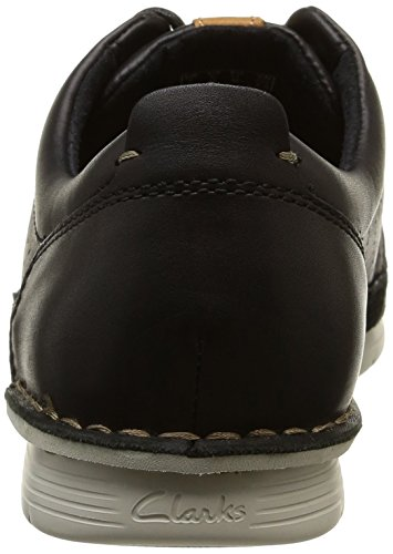 Clarks Polysport Edge, Derby homme Noir (Black Leather)