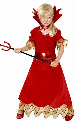 Diablesse Kostüm - Déguisement diablesse Halloween enfant--3 à 4 ans