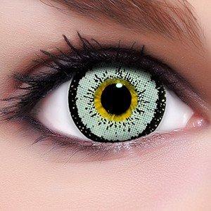 Linsenfinder Lenzera Circle Lenses graue 'Angel Grey' ohne und mit Stärke + Kombilösung + Behälter 15mm Big Eyes farbige Kontaktlinsen