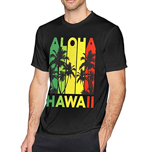 3e8b863ce55e Mbefore Maglietta a Maniche Corte da Uomo Vintage Hawaiian Islands Tee  Hawaii Aloha State, Camicia
