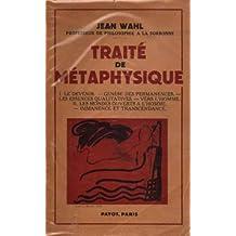 Traité de métaphysique