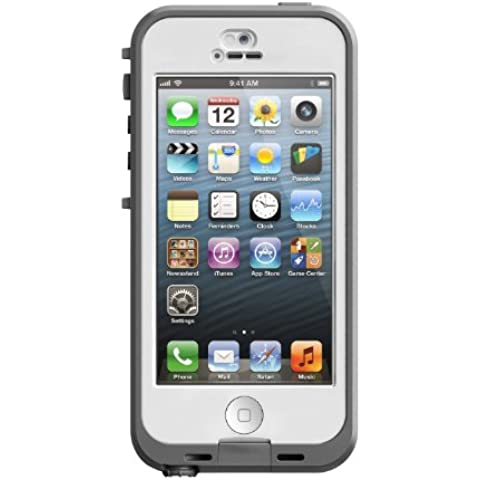 LifeProof Nuud - Carcasa para iPhone 5, color blanco y transparente