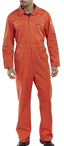 Beeswift ltd Super Click Workwear Heavy Weight Boilersuit Overall In Orange Size 42