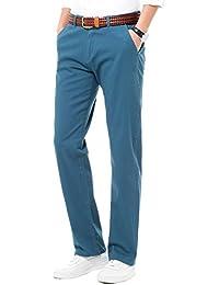 INFLATION Herren Chino Hose Stoffhose mit Stretch Regular Fit Baumwollehose Chinohose für Männer Freizeithose für Jungen MH104 18 Farben