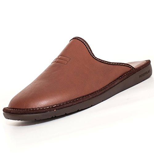 Nordika, Pantofole uomo marrone Brown 41.5, marrone (Brown), 47 EU