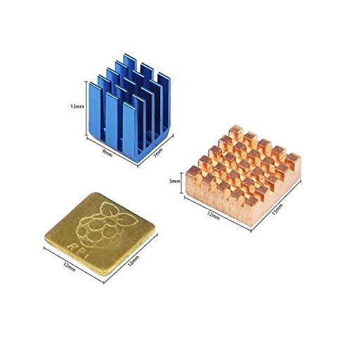 Laliva 3D Printer-Raspberry Pi 3Model B + Plus dissipatore di calore in alluminio 1+ 2in rame con logo raffreddamento Disipador dissipatore per Raspberry Pi 3B +/3
