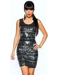 Kleid mit Pailletten / Paillettenkleid / Cocktailkleid / Abendkleid Größe S/M und L/XL