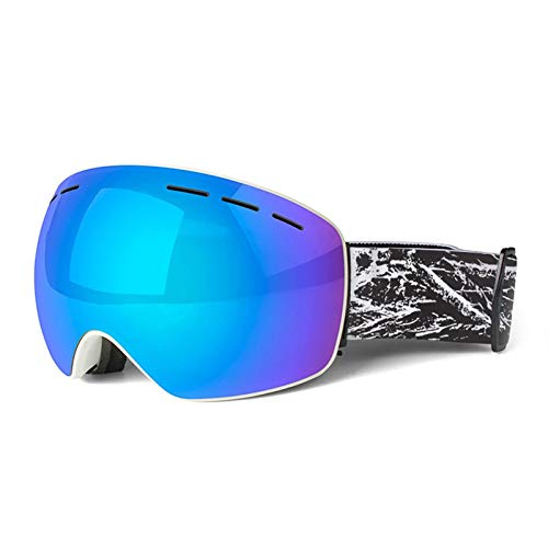 MaxAst Schutzbrille Taktisch Skibrille Herren Damen Unisex Schutzbrille Antibeschlag Blau Weiß